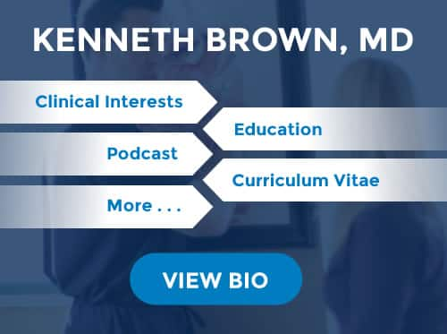 Kenneth Brown, MD biography summary