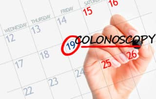 colonoscopy appointment shown on calendar