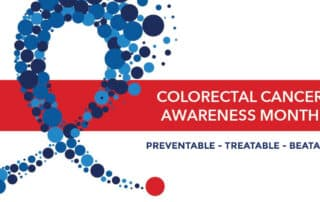 colorectal cancer awareness month graphic message that colon cancer is preventable